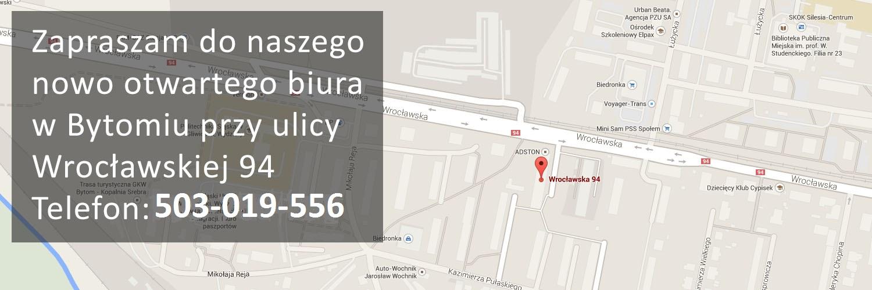 Zapraszamy do naszego biura przy ul.Wrocławskiej 94 lok.105